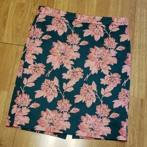 J Crew Mercantile floral pencil skirt sz 8